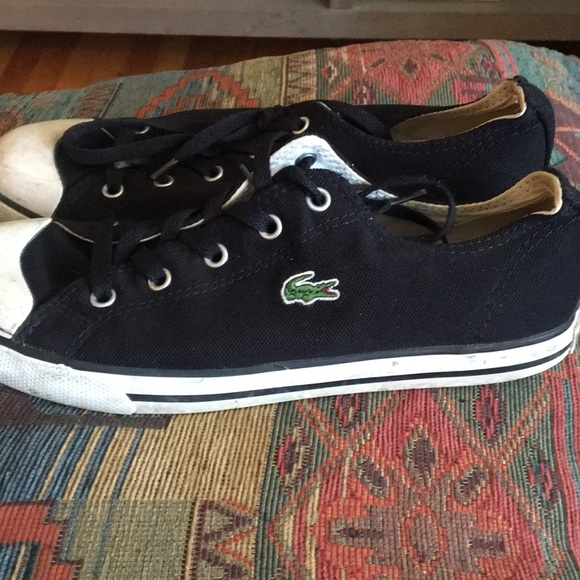 082ad2c623 Lacoste Shoes | Black Converse Style Tennis | Poshmark